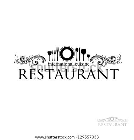 idea for a sign - restaurant - International cuisine. vector - stock vector
