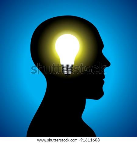 Idea head. - stock vector