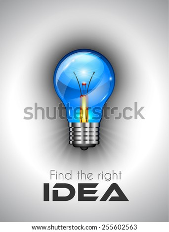 Idea high quality lamp Icon to use for branstorming concept, ideas finding rules, strategy planifications and so on - stock vector