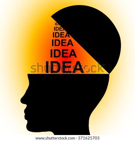 idea icon - stock vector