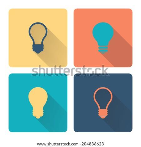Idea icon. Flat design. Vector illustration. - stock vector