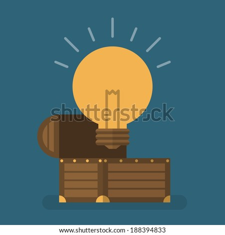Idea is treasure - stock vector