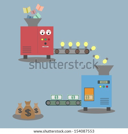 Idea machine - stock vector