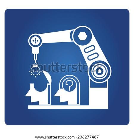 idea machine, problem solving concept - stock vector