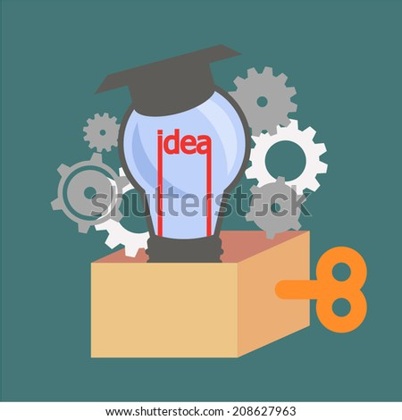 idea mechanism system invention knowledge - stock vector