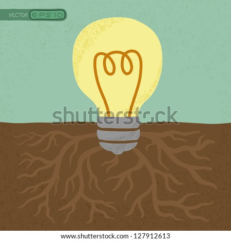 Idea Tree  , eps10 vector format - stock vector