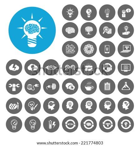 Ideas and creativity icons set. Illustration EPS10 - stock vector
