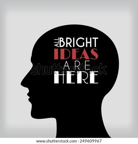 Ideas in head - stock vector