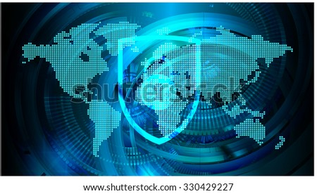 identifying a computer virus. Antivirus protection and computer security concept. PC. one zero. scan. technology digital website. vector. lock, key, Padlock, World Map, Global. vector - stock vector