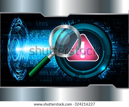identifying a computer virus. Antivirus protection and computer security concept. PC. vector one zero. scan. technology digital website internet web. vector. eye - stock vector