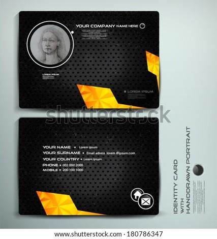 Identity card design - stock vector