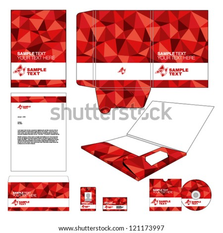 Identity template. - stock vector