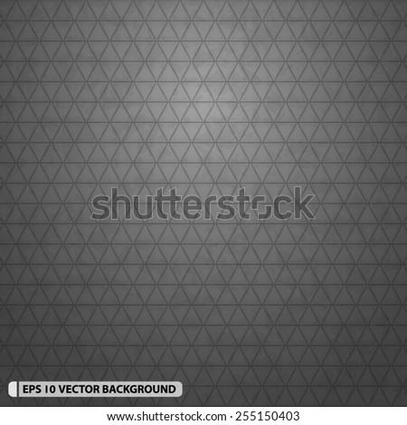 Illuminated Dark Grey Triangles Abstract Pattern - stock vector