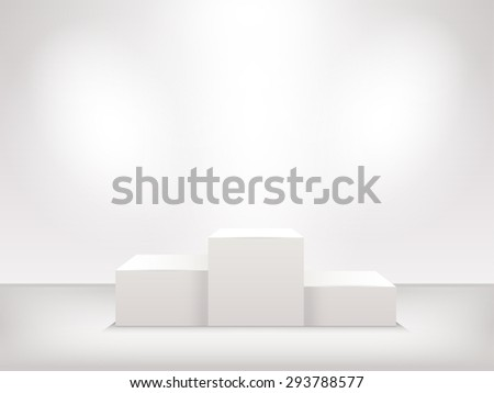 illuminated winners podium isolated on background vector - stock vector