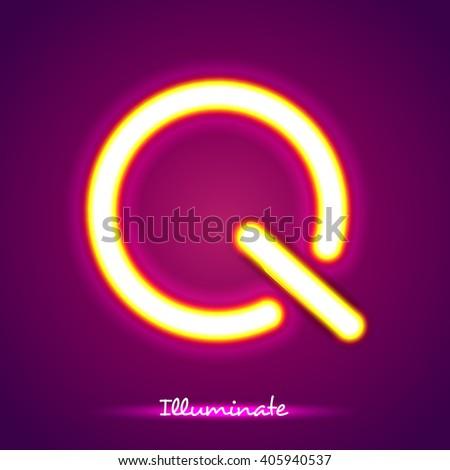 illumination q - stock vector