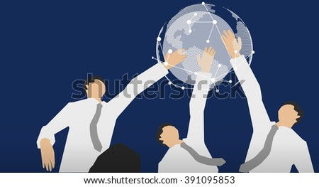 illustrate of Global Business	  - stock vector