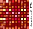 illustrated abstract seamless tile background in different shades of red - stock vector