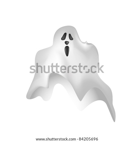 Illustrated ghost cartoon in vector EPS10 format - stock vector