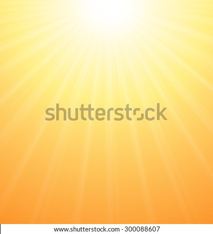 Illustration Abstract Orange Sky Background Sun Rays Vibrant - vector - stock vector