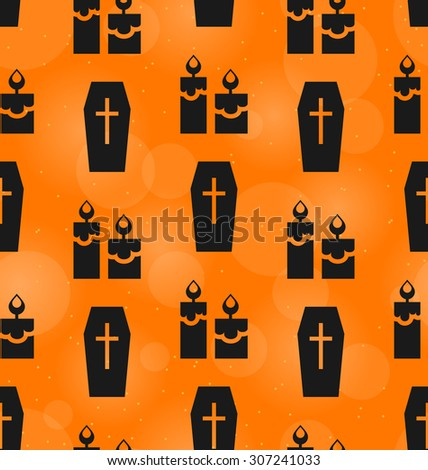 Illustration Abstract Seamless Texture for Halloween Party - Vector - stock vector