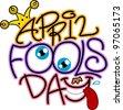 Illustration Celebrating April Fools' Day - stock vector