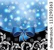 Illustration Christmas floral packing, ornamental design elements - vector - stock vector