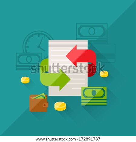 Illustration concept of refinance in flat design style. - stock vector