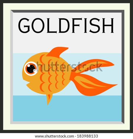 illustration cute goldfish vector file - stock vector