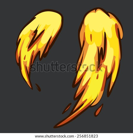 illustration 2d fire explosion. - stock vector