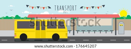 illustration file useful, which about transportation. (Bus) - stock vector