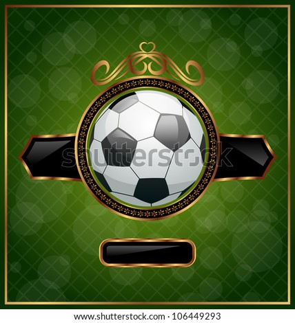 Illustration football poster with place for your text - vector - stock vector