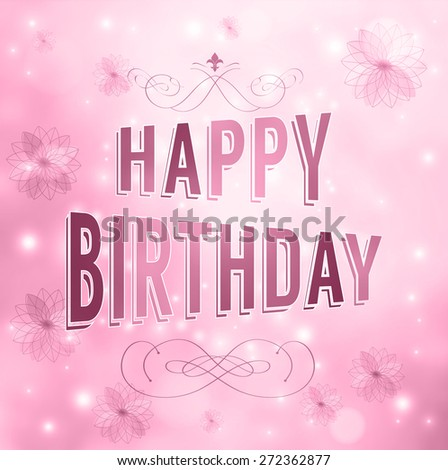 Illustration for happy birthday card - stock vector
