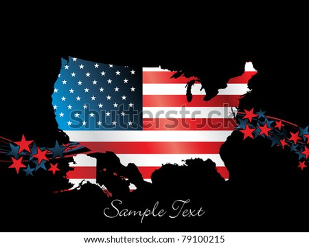 illustration for happy 4th july us independence day celebration - stock vector