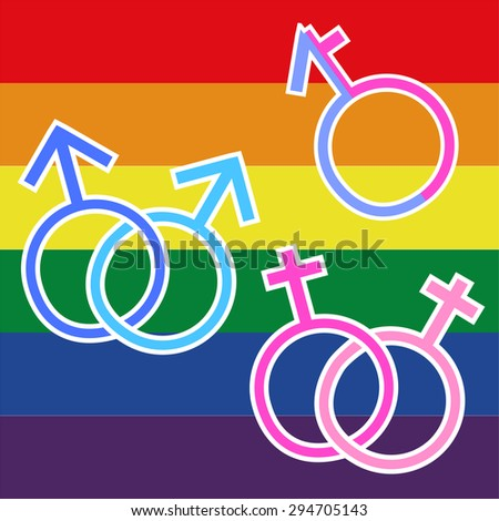 Illustration for LGBT  - stock vector
