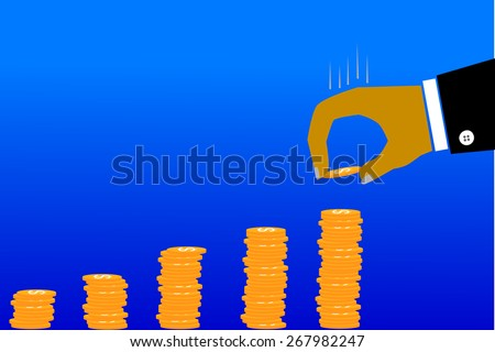 illustration for man invest his money  - stock vector