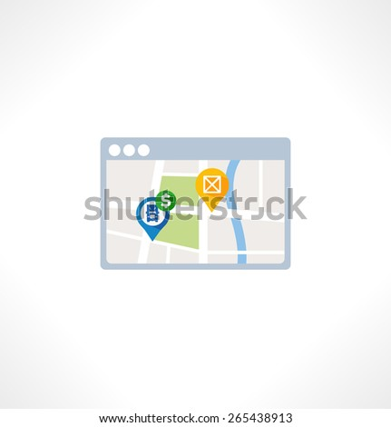 Illustration for website and mobile application. Flat design. Vector. Editable. Navigation - stock vector