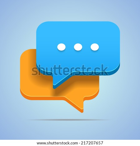 Illustration for your blog posts with speech bubbles. - stock vector