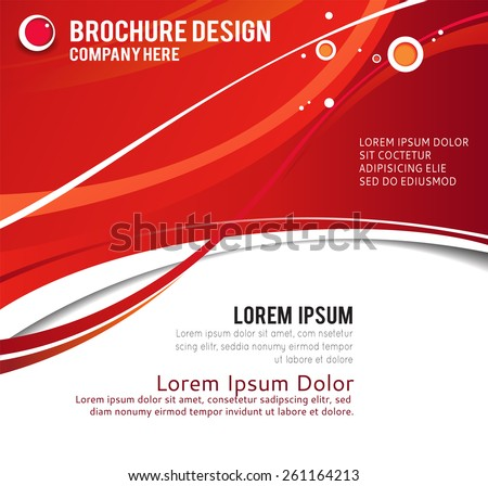 Illustration for your business presentations.. Abstract illustration bor brochure or flyer. - stock vector