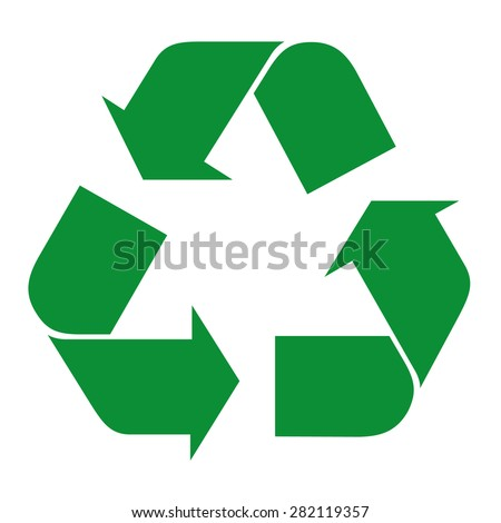 Illustration icon recycling symbol. Ideal for catalogs, informative and recycling guides - stock vector