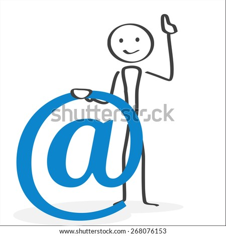 Illustration in ink style showing a person drawing attention having an important message to communicate to the visitor. - stock vector