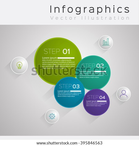 illustration Infographic. Vector illustration can be used for workflow layout, diagram, number options, web design. - stock vector