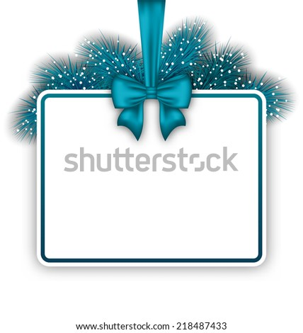 Illustration New Year elegant card with copy space for your text - vector - stock vector