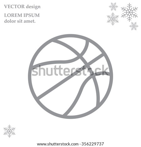illustration of a basketball outline isolated - stock vector