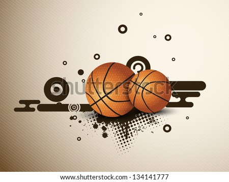 Illustration of a basketballs on  abstract grungy background. EPS 10. - stock vector