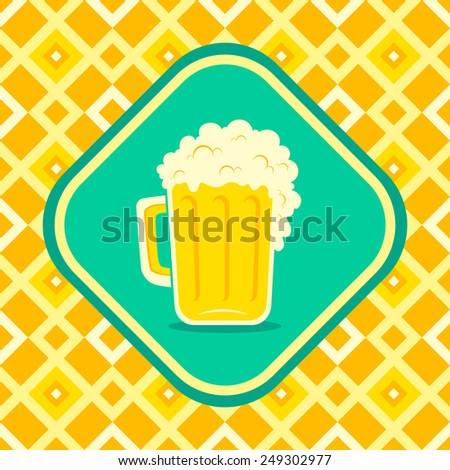 Illustration of a beer mug - stock vector