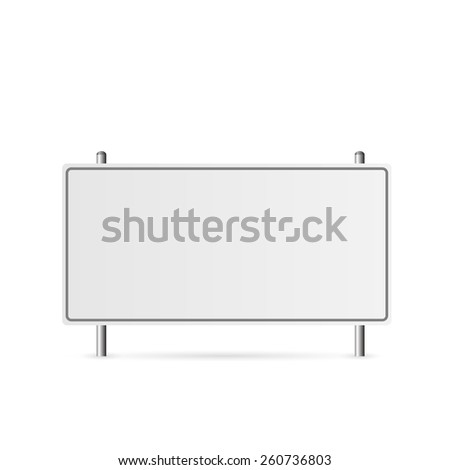 Illustration of a blank highway sign isolated on a white background. - stock vector