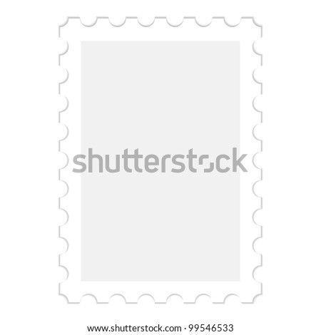illustration of a blank stamp, isolated on white - stock vector