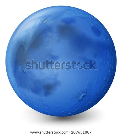 Illustration of a blue planet on a white background - stock vector