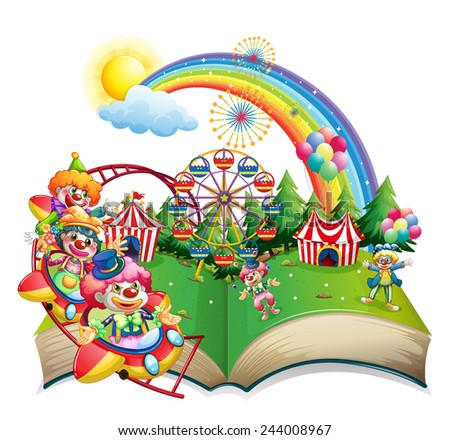 Illustration of a book of carnival - stock vector