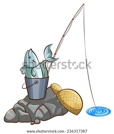 A bucket of fish stock vectors vector clip art for Bucket of fish